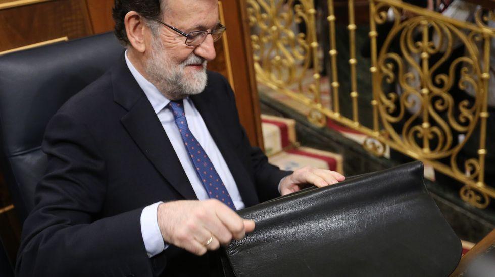 Francisco Álvarez-Cascos.Luis Bárcenas, a la salida de la Audiencia Nacional