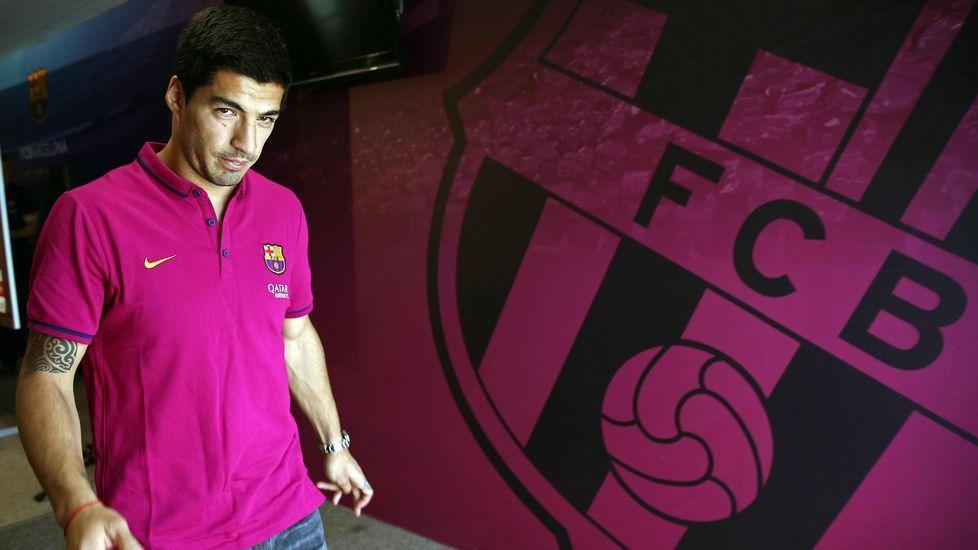 Luis Suárez habla antes del partido decisivo por el título.Una imagen histórica del Sporting de los primeros tiempos
