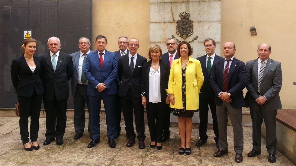 Rueda de prensa de presentación de la Comisión Intercolegial de Asturias en la sede del ICA Oviedo