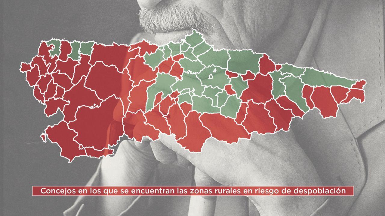 El mapa de la Asturias vaciada