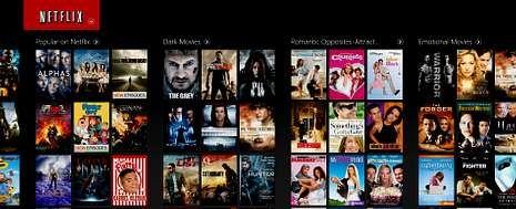 Netflix, que ha decidido esquivar a España para asentarse previamente en Holanda, ofrece un catálogo de miles de películas y series