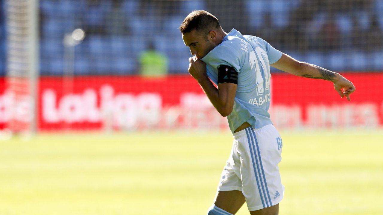 Celta-Valladolid (3-3) de Primera el 22 de septiembre del 2018. Doblete de Aspas