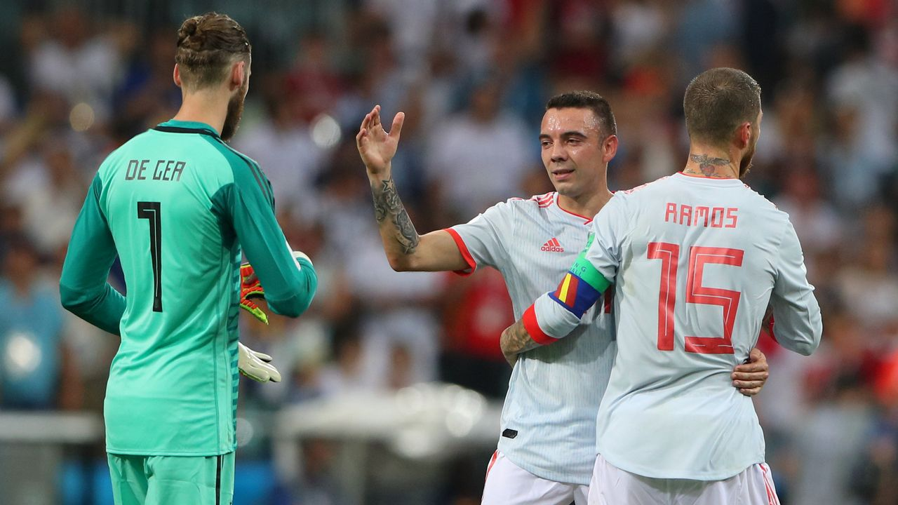 El debut de Aspas en el Mundial, en imágenes