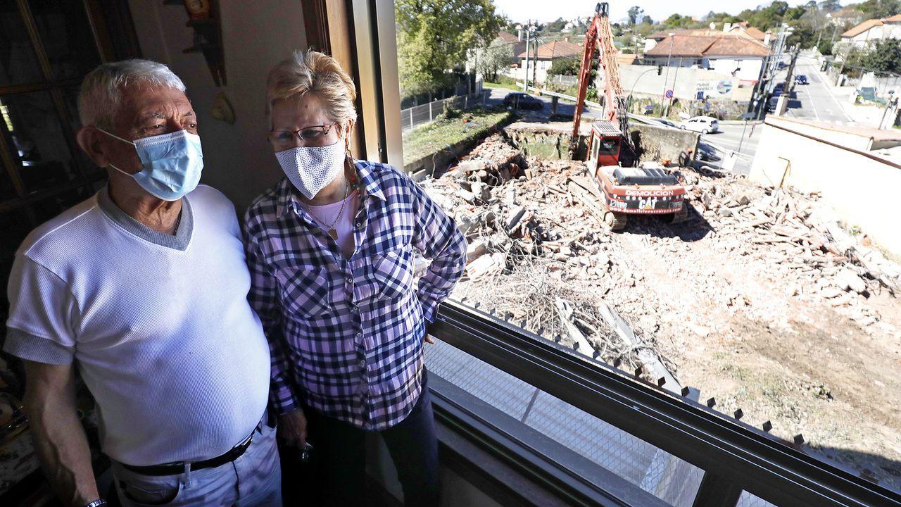 Derriban una casa ilegal en Vigo y dan nuevas vistas a los vecinos.Algunos vecinos han tapiado sus propiedades, la última el pasado sábado
