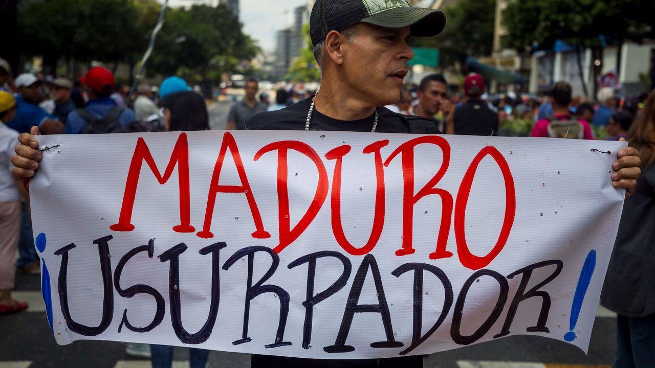 Cientos de personas denunciaron en Caracas la «ilegitimidad» de Maduro como presidente
