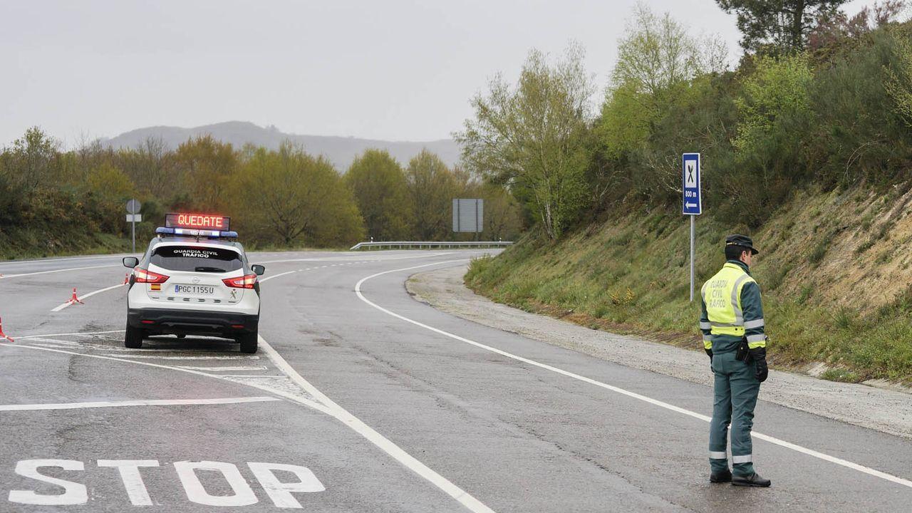 Control de la Guardia Civil durante el estado de alarma