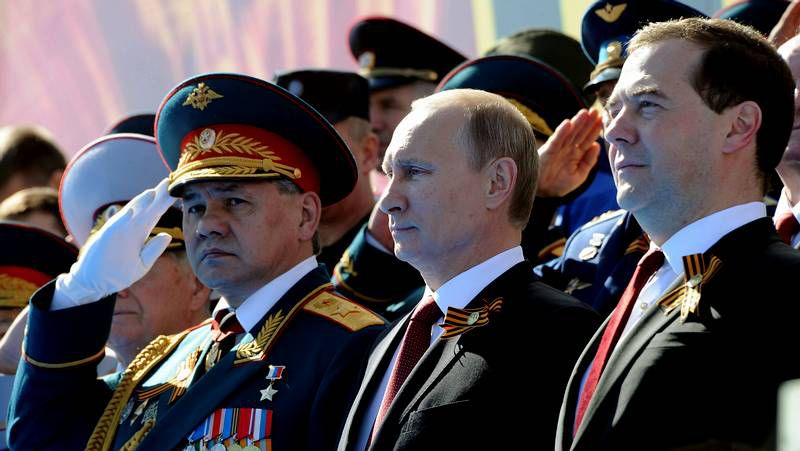Putin preside los espectaculares desfiles militares.El presidente de Rusia, Vladimir Putin.