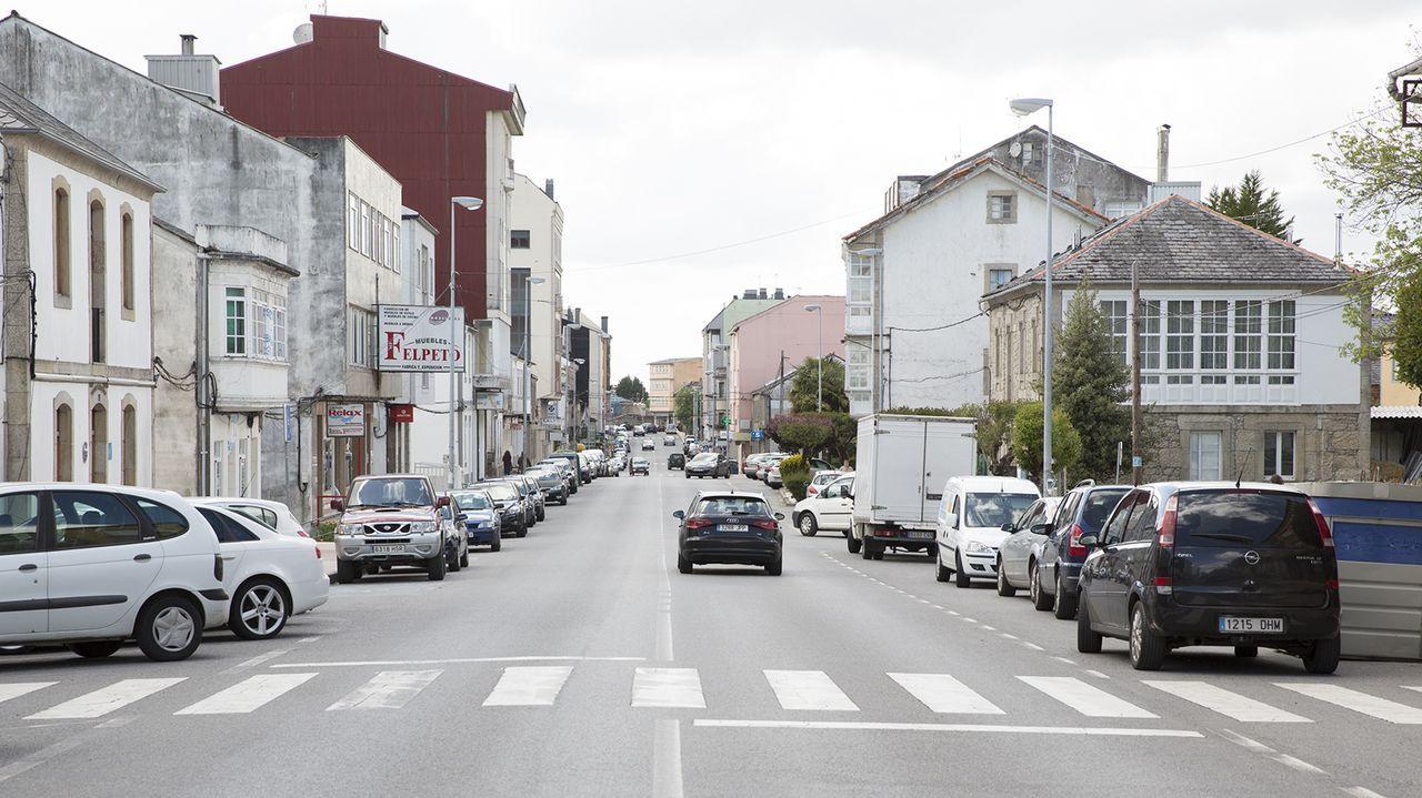 Imagen de la travesía urbana de la N-VI en Guitiriz