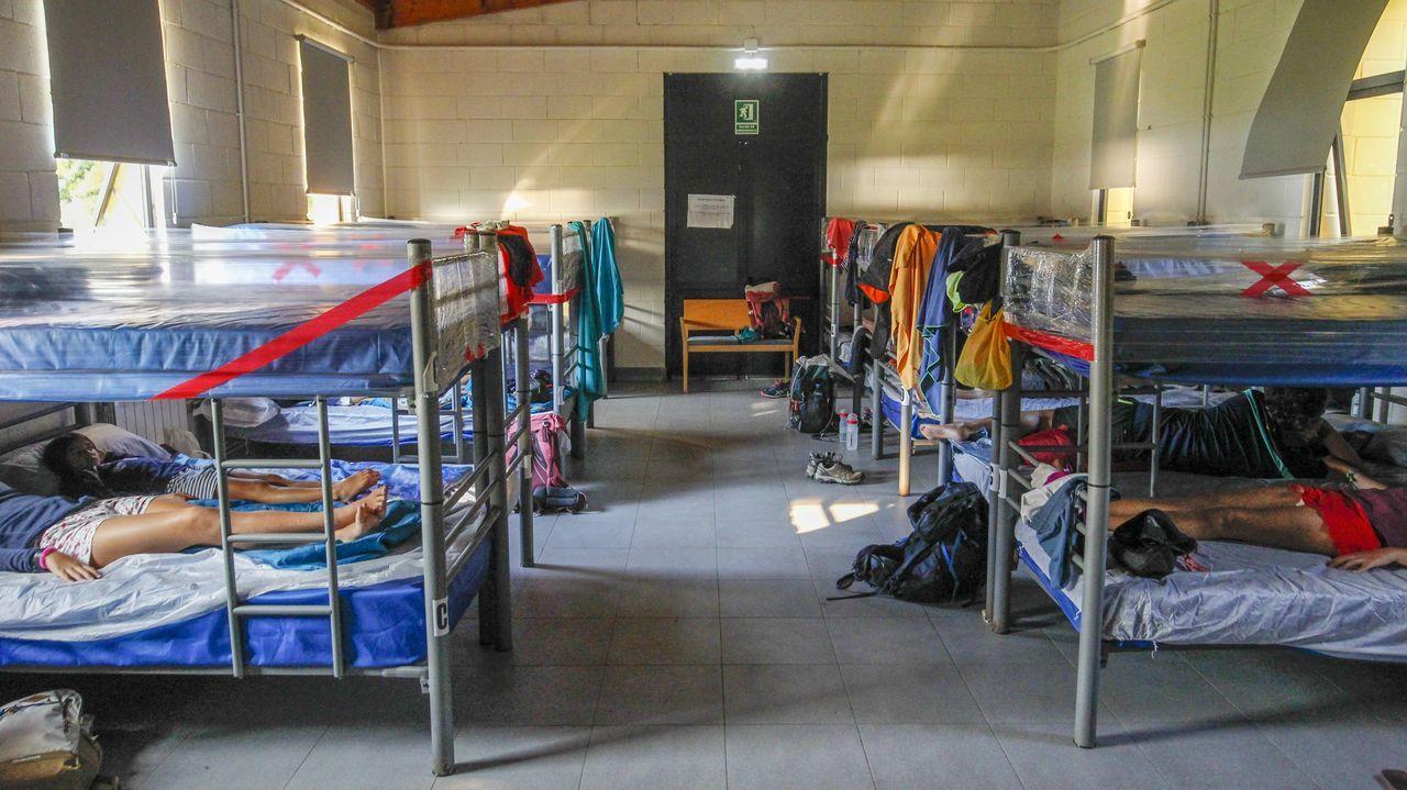 Interior del albergue de peregrinos de Neda, que gestiona el Concello, ayer por la tarde