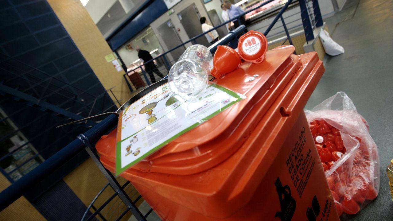 Hai máis de dez anos houbio unha campaña na Praza de Abastos de Lugo ra reciclar aceite