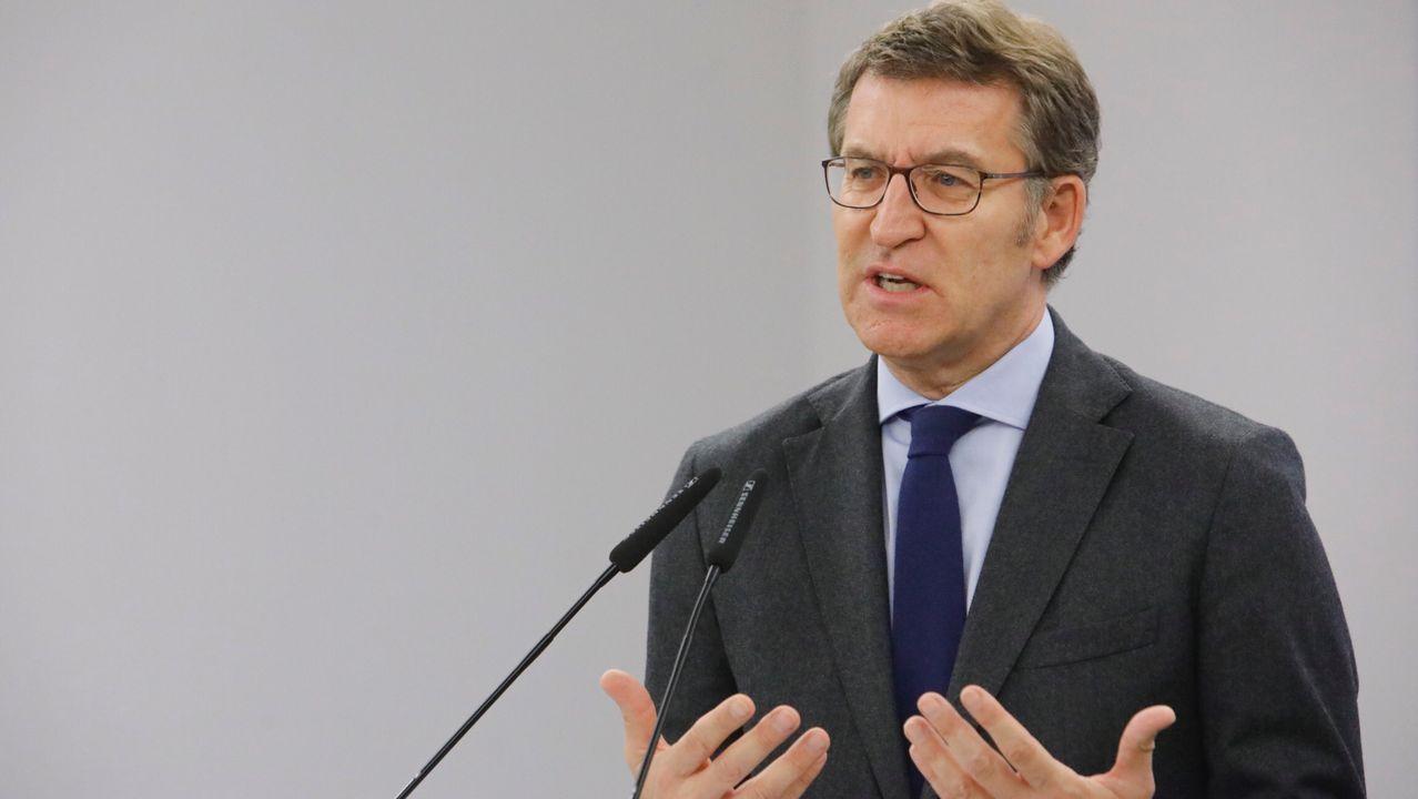 El presidente de la Xunta y del PPdeG, Alberto Núñez Feijoo