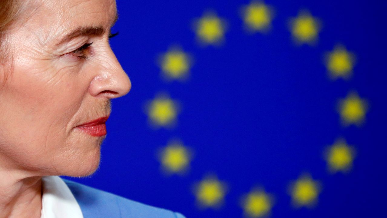 La candidata a presidir la Comisión Europea, la ministra alemana Ursula Von der Leyen