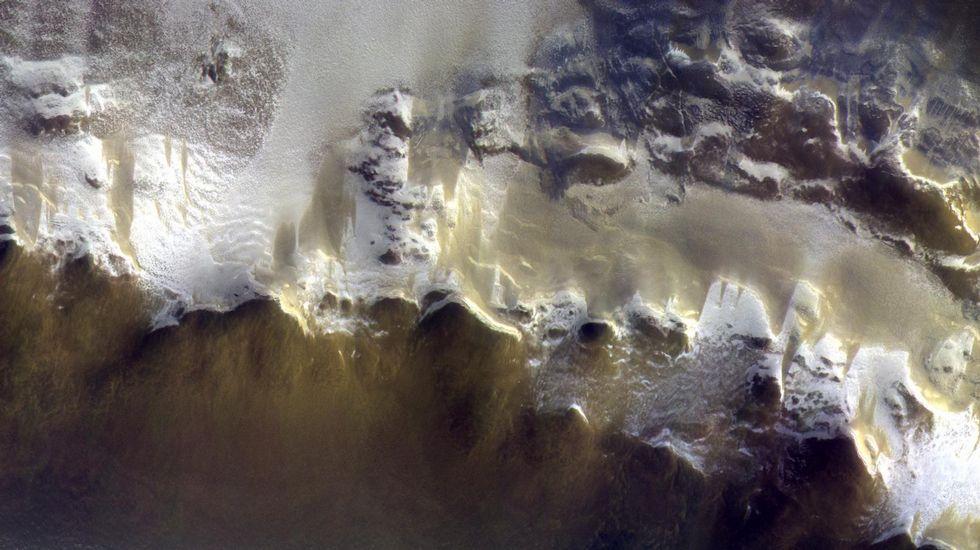 La Nasa muestra pruebas de posible vida en Marte.La primera foto del TGO desde su órbita de trabajo