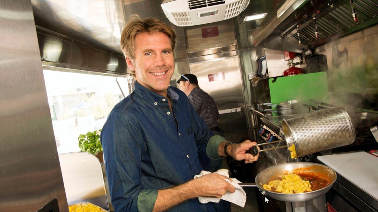 Emanuele Filiberto de Saboya, en su «food truck»