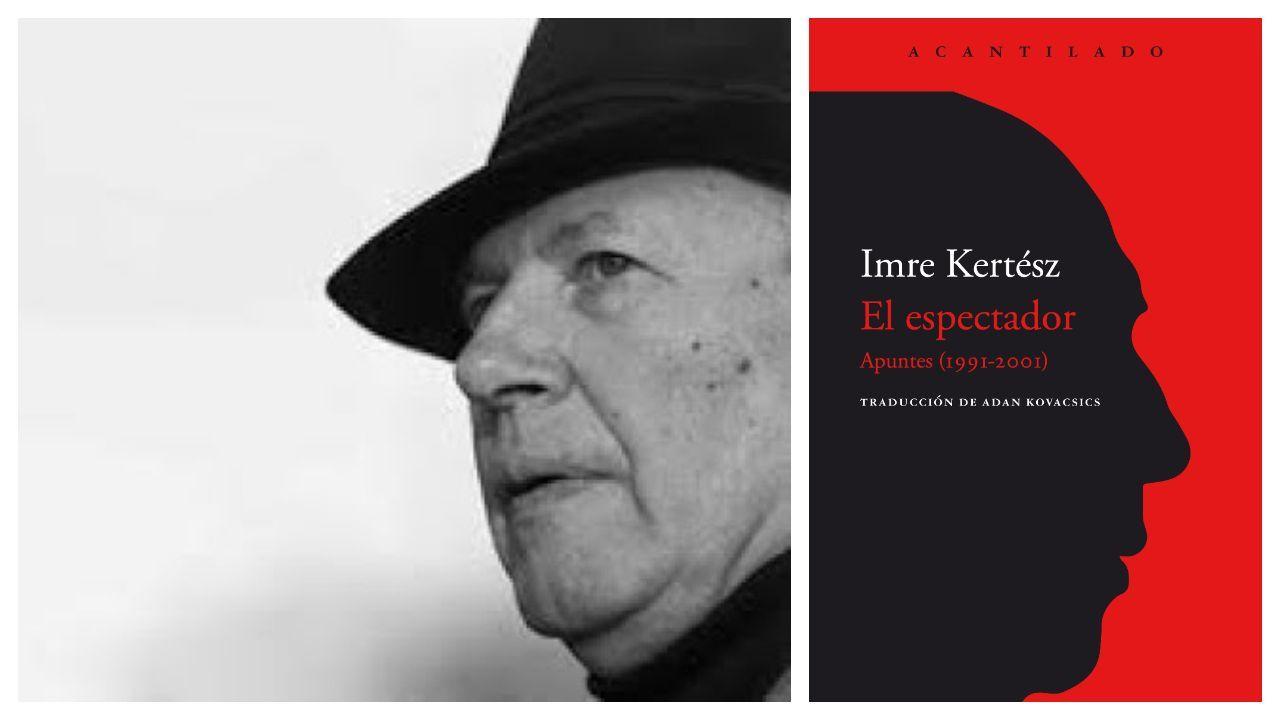 El perro Topi por fin puede viajar a su nuevo hogar.El escritor húngaro Imre Kertész (Budapest, 1929-2016). A la derecha, portada del nuevo volumen de sus diarios que edita Acantilado