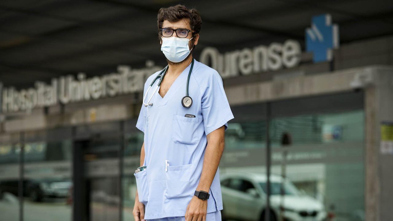 Pablo Vidal, médico adscrito a la uci covid-19 del CHUO