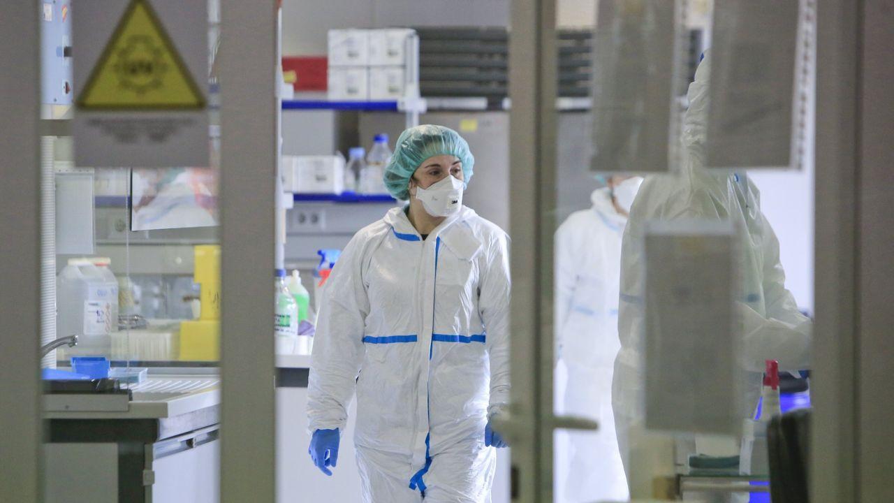 Un laboratorio de Lugo en el que se hacen pruebas de coronavirus