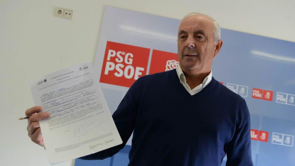 Así fue el recibimiento a Pablo Casado en Vigo.Imagen de 2017 presentando su candidatura a la secretaría provincial del PSOE