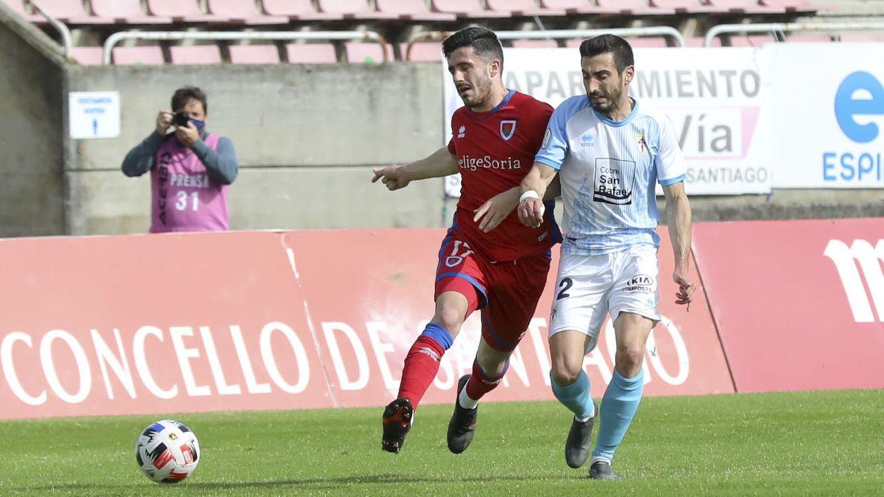 Emilio Cañedo, durante un partido del Vetusta