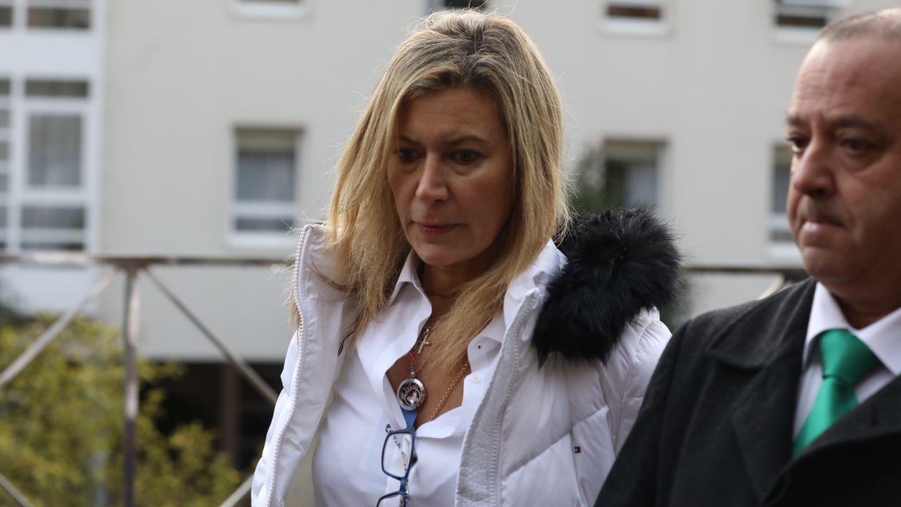 Diana López-Pinel a su llegada a la décima jornada del juicio por la muerte de su hija Diana Quer