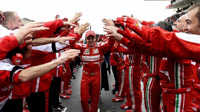 Massa, en su despedida de Ferrari