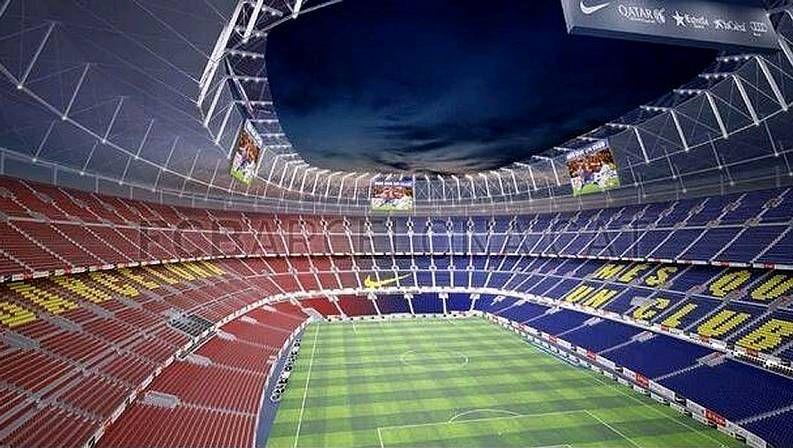 Diseño del interior del nuevo estadio