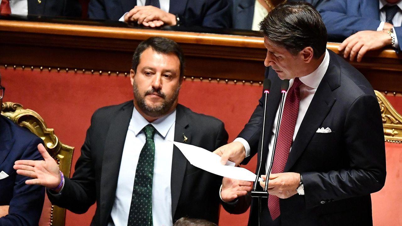 Conte dirigió un duro discurso contra Salvini por haber desatado la crisis de Gobierno