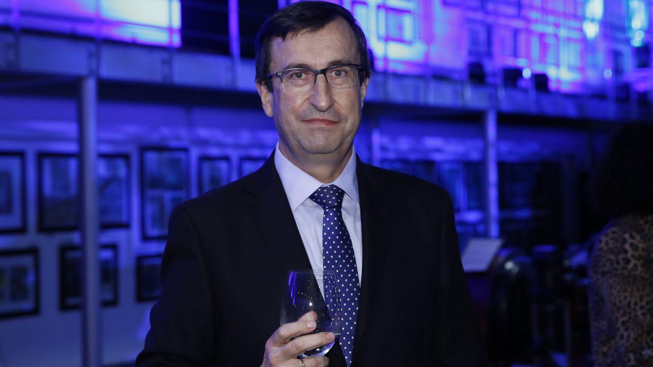 Francisco Vallejo Torres, responsable de Vodafone.Tomás Olarte, director general para Galicia y Portugal de Acciona Infraestructuras