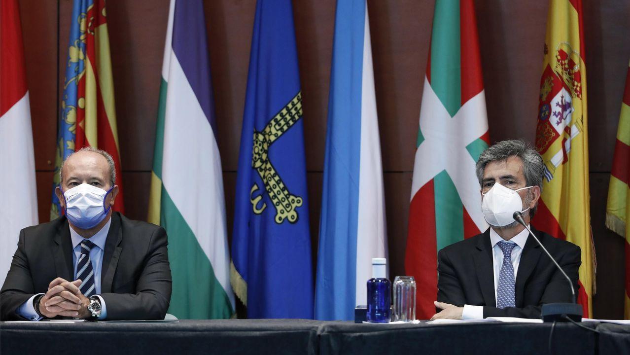 Pablo Casado, este lunes, tras la reunión del comité de dirección del PP