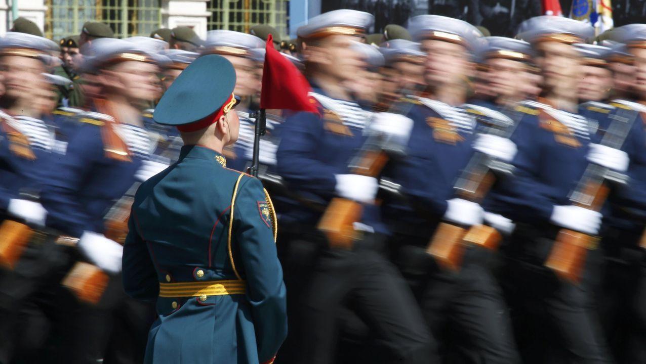Imagen de archivo de un desfile militar del Ejército ruso