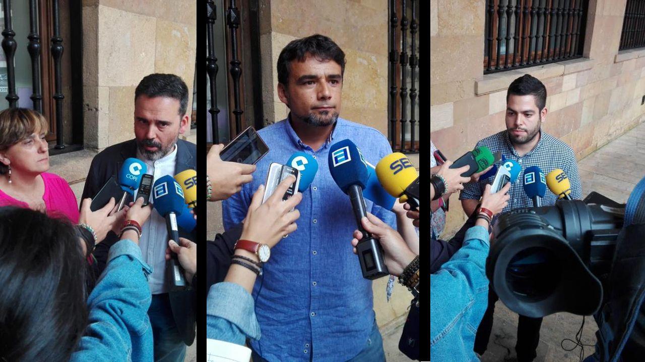 Los concejales Ana Rivas, Iván Álvarez y Rubén Rosón