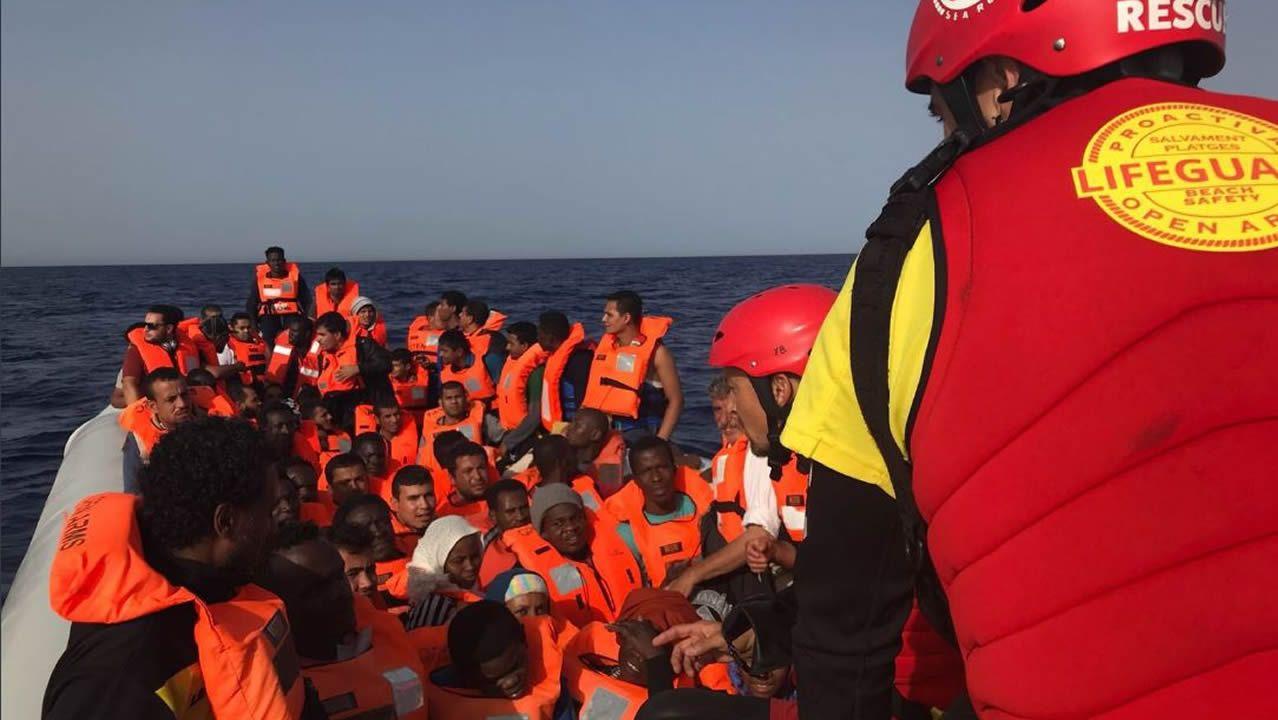 El barco Open Arms llega al Puerto de Barcelona.Imagen de archivo de la embarcación Open Arms perteneciente a la oenegé Proactiva