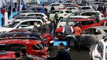 Exposición de vehículos en el Salón del Automóvil celebrado en Vigo en abril de este año