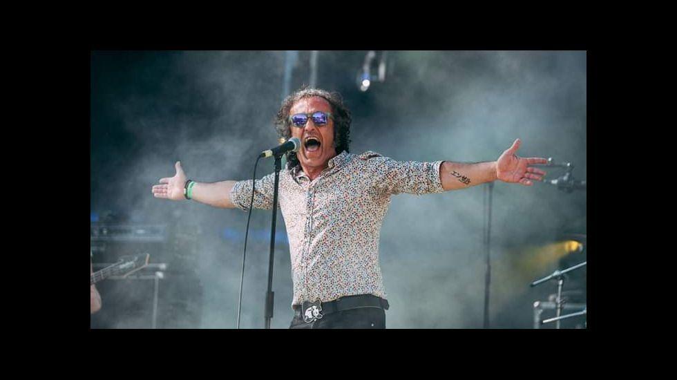 Miguel Ángel Aliaga, cantante del grupo Señor Aliaga, que actúa el sábado por la noche en las fiestas de Sober