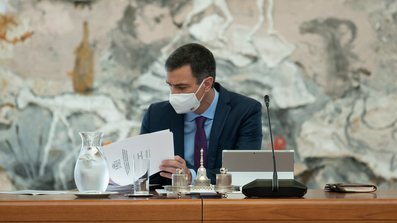 El presidente del Gobierno, Pedro Sánchez, preside la reunión del Consejo de ministros en LA Moncloa