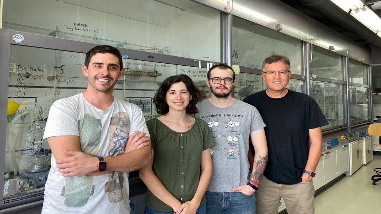Cristian Vidal, Soraya Learte, Alejandro Gutiérrez y Mascareñas (foto de archivo)
