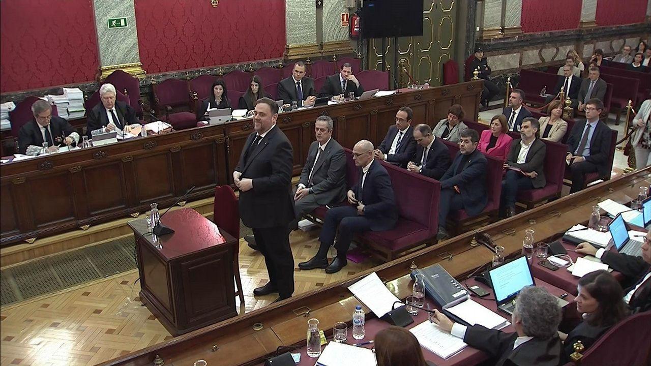 El himno de España se cuela en la ofrenda floral del Govern por la Diada.El exsecretario de Estado de Seguridad José Antonio Nieto, durante su declaración en el Tribunal Supremo
