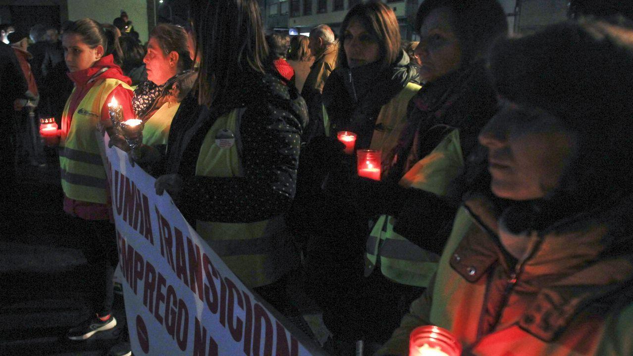 Protesta en As Pontes para pedir una transición energética justa