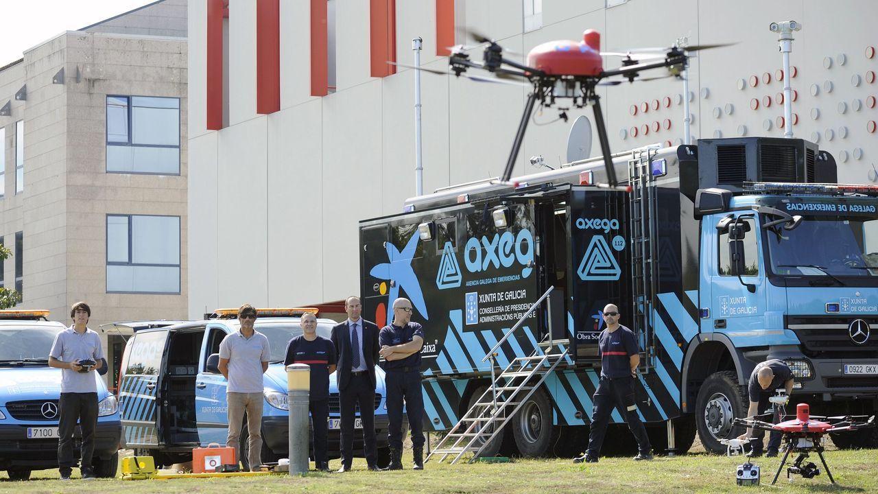 La búsqueda se realizó con drones como el de la imagen
