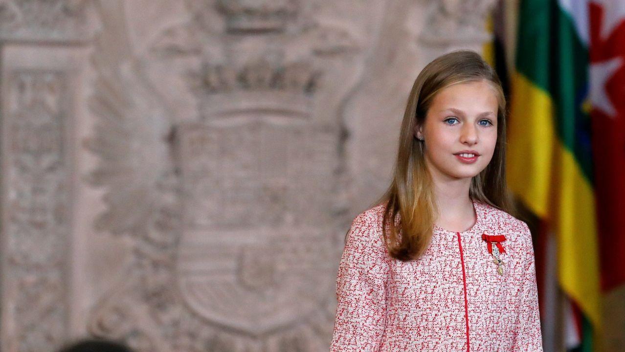 Así fue la recepción del rey a Barbón.La princesa Leonor, en su última aparicion pública, en la comunión de su hermana Sofía.