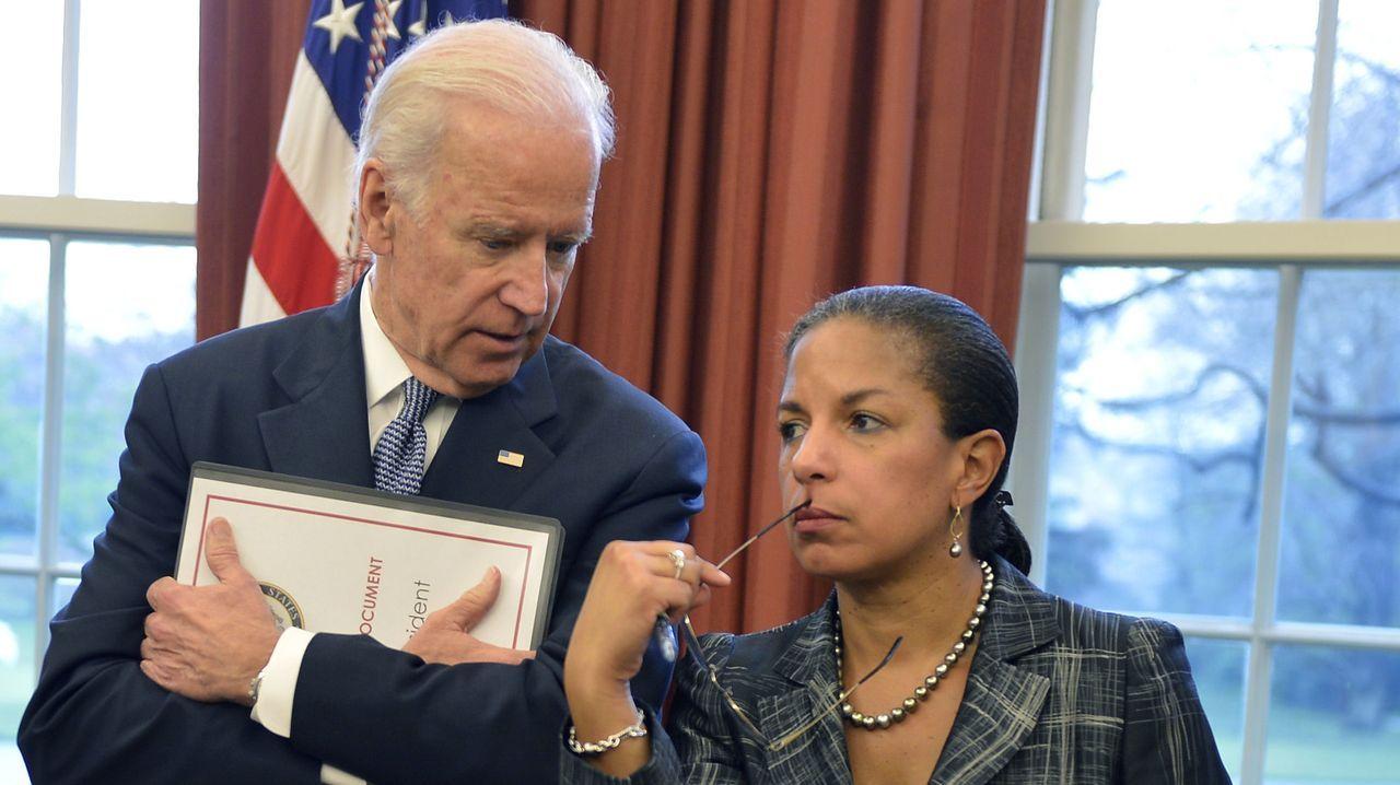 Jose Andrésagradece el 41 Premio por la Paz recibido.Biden y Rice, en el despacho oval durante el mandato de Obama