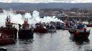 Así de concurrida estuvo el 26 de marzo la movilización en Tagrove contra el reglamento de control pesquero. Este viernes, 14, está convocada otra en toda Galicia