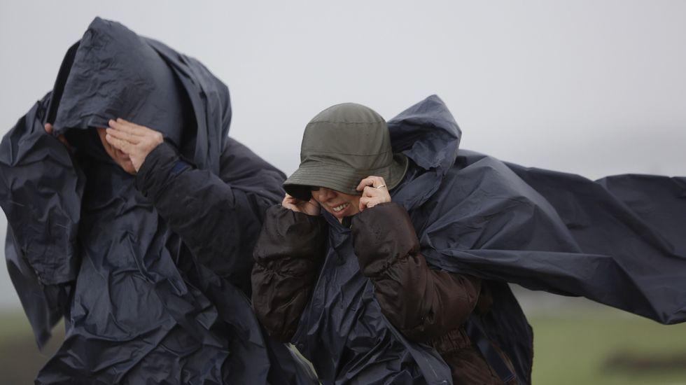Temporal de viento y granizo en A Coruña