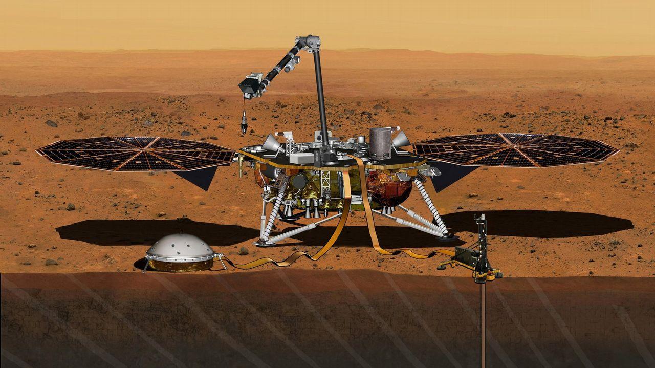 Siete años de trabajo y siete meses de viaje por el espacio para siete minutos de angustia: ¿tocará la sonda la superficie de Marte?.La nave Osiris-Rex orbitará este lunes en el cuerpo celeste más pequeño para coger muestras de polvo