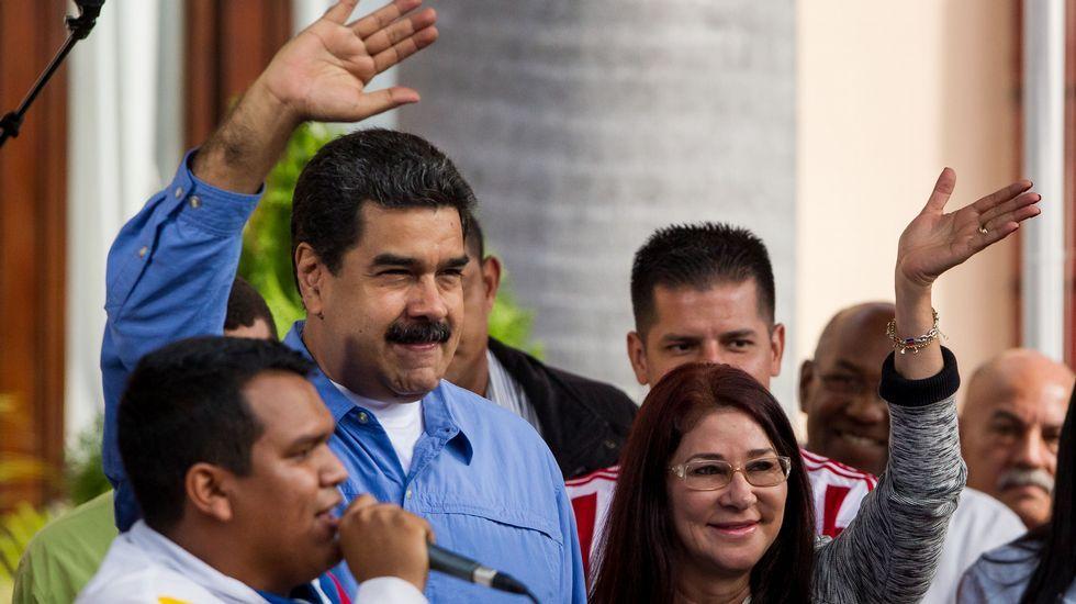 Maduro, con su mujer