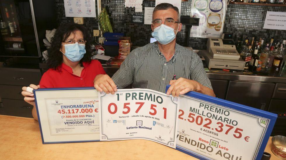 Vanesa Caamaño y Pablo Eirís se casaron en junio del año pasado en Artes, Carballo.