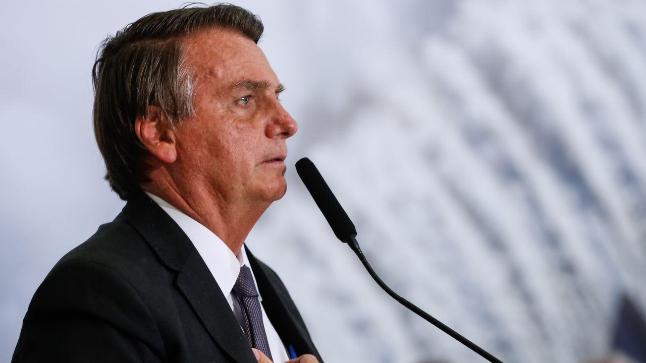 Jair Bolsonaro, presidente de Brasil, hablando durante un evento