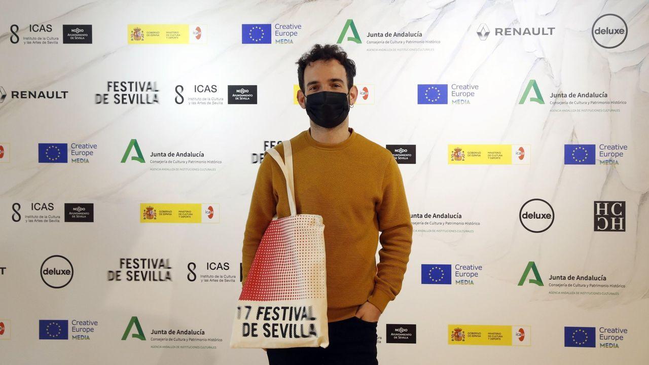 El director, en el festival de Sevilla, donde su cinta fue galardonada