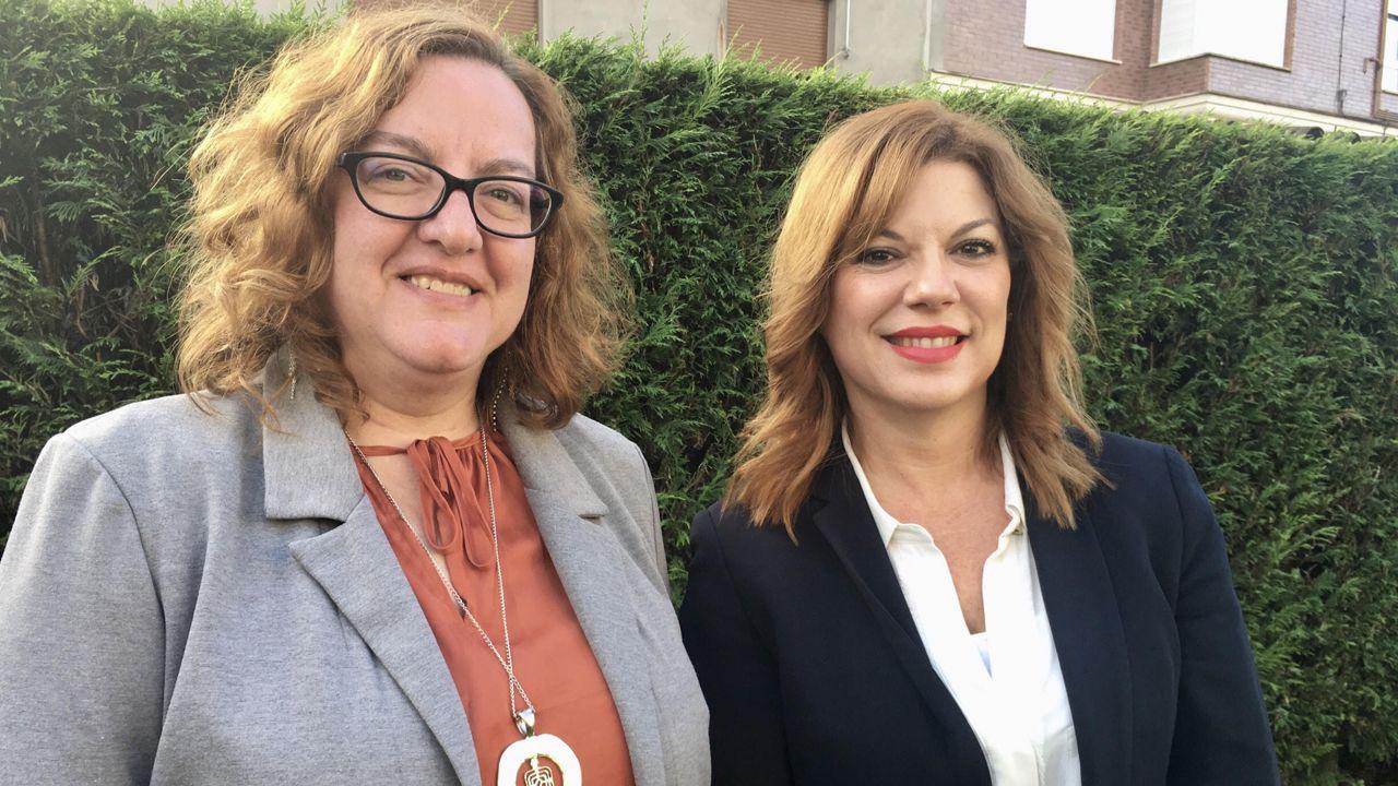Por la izquierda, Mapi Madrid Romero y Patricia Martín Velasco