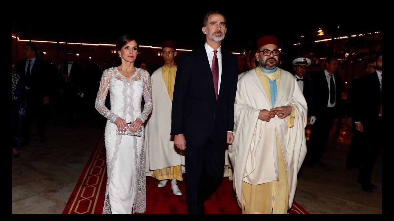 Cena con el rey de Marruecos en Rabat